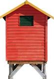 Geïsoleerdep strandhut Royalty-vrije Stock Afbeeldingen