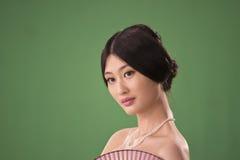 Geïsoleerder Chinese vrouw Stock Foto