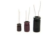 Geïsoleerder condensatoren Royalty-vrije Stock Foto's