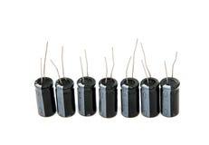 Geïsoleerder condensatoren Stock Afbeeldingen