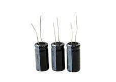 Geïsoleerder condensatoren Royalty-vrije Stock Foto