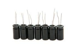 Geïsoleerder condensatoren Stock Foto
