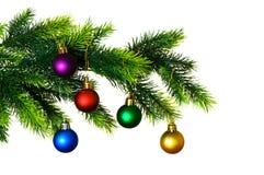Geïsoleerder de decoratie van Kerstmis stock afbeeldingen