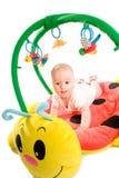Geïsoleerder de gymnastiek van de baby Stock Foto's