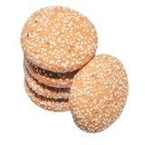Geïsoleerder de koekjes van het havermeel Royalty-vrije Stock Afbeelding