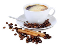 Geïsoleerder de kop van de koffie Stock Afbeeldingen