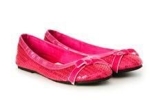 Geïsoleerder de schoenen van de vrouw Royalty-vrije Stock Afbeeldingen