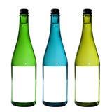 Geïsoleerder flessen Stock Foto