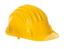 Geïsoleerder gele helm Royalty-vrije Stock Afbeeldingen
