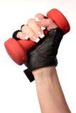 Geïsoleerder hand van vrouw die een gewicht houdt Royalty-vrije Stock Afbeelding