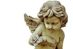 Geïsoleerder het beeldhouwwerk van de Cupido stock foto