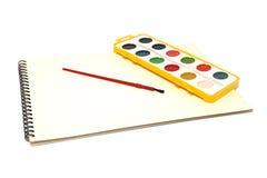 Geïsoleerder het schilderen hulpmiddelen stock foto