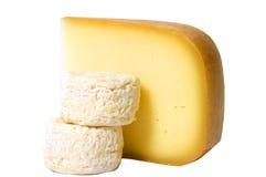 Geïsoleerder kaas, Royalty-vrije Stock Afbeeldingen