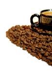 Geïsoleerder koffie Stock Fotografie