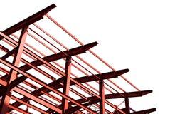 Geïsoleerder metall bouw Stock Fotografie