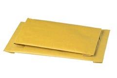 Geïsoleerder opgevulde enveloppen Stock Afbeelding