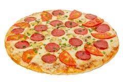 Geïsoleerder pizza Stock Afbeeldingen