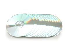 Geïsoleerder rij van CD stock fotografie