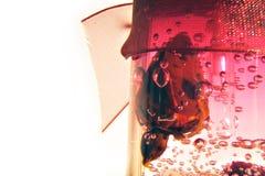 Geïsoleerder rode kaars Stock Afbeelding