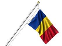 Geïsoleerder Roemeense Vlag Royalty-vrije Stock Fotografie