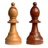 Geïsoleerder schaakbischop stock foto
