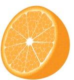 Geïsoleerder sinaasappel royalty-vrije illustratie