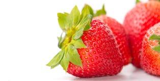 Geïsoleerdes Aardbeien Stock Fotografie