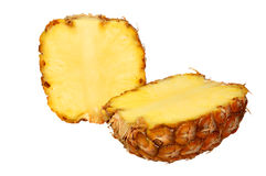 Geïsoleerdes ananas. Royalty-vrije Stock Afbeeldingen