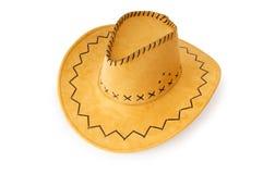 Geïsoleerdes de hoed van de cowboy Stock Foto