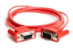 Geïsoleerdes de kabel van Com. Stock Afbeelding
