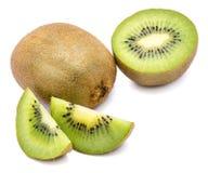 Geïsoleerdes het fruit van de kiwi royalty-vrije stock afbeeldingen