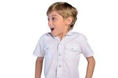 Geïsoleerdes jonge jongen Royalty-vrije Stock Fotografie