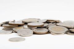 Geïsoleerdes muntstukken royalty-vrije stock afbeeldingen