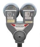 Geïsoleerdes parkeermeter, Royalty-vrije Stock Afbeelding