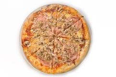 Geïsoleerdes pizza Royalty-vrije Stock Afbeeldingen