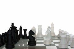 GeïsoleerdeS schaakstukken Royalty-vrije Stock Afbeeldingen