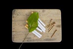 Geïsoleerdes sigaretten Royalty-vrije Stock Afbeeldingen