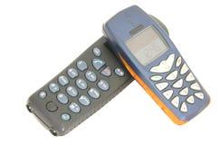 Geïsoleerdes telefoons - stock fotografie