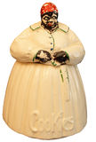 Geïsoleerdet antieke koekjestrommel Royalty-vrije Stock Foto