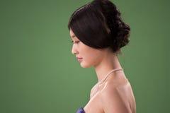Geïsoleerdet Chinese vrouw Stock Foto's