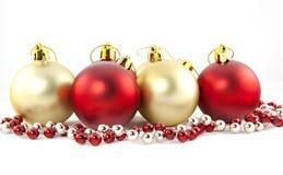 Geïsoleerdet de ballen van Christmass Royalty-vrije Stock Foto