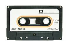 Geïsoleerdet de band van de cassette Stock Foto