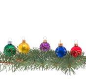 Geïsoleerdet de decoratie van Kerstmis Stock Afbeelding