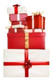 Geïsoleerdet de giften van Kerstmis Stock Afbeelding