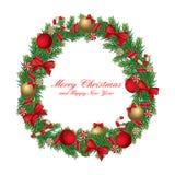 Geïsoleerdet de kroon van Kerstmis Stock Foto's