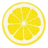 Geïsoleerdet de plak van de citroen Royalty-vrije Stock Afbeelding