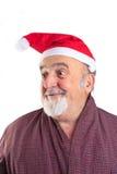 Geïsoleerdet echte Kerstman Stock Afbeelding