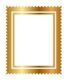 Geïsoleerdet gouden zegel Stock Fotografie