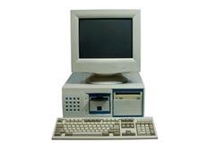 Geïsoleerdet Huiscomputer Stock Foto's