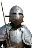 Geïsoleerdet Middeleeuwse Ridder. Stock Afbeeldingen